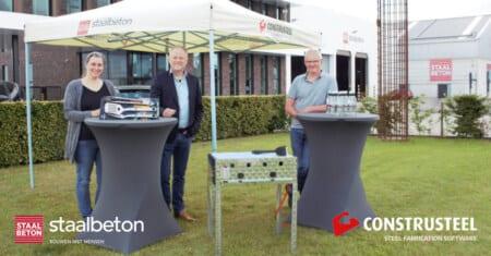 Staalbeton ontvangt ConstruSteel BBQ-set